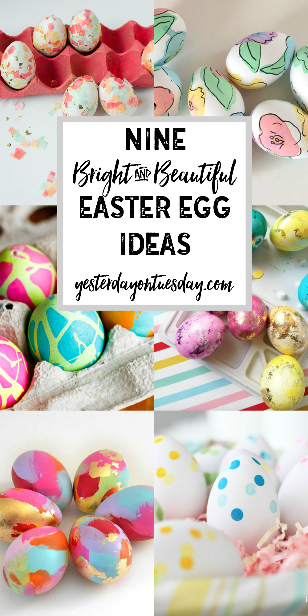 9 Bright and Beautiful Easter Egg Ideas: Lovely ideas for creating gorgeous Easter eggs.
