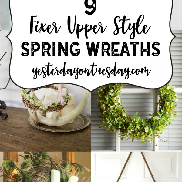 9 Fixer Upper Style Spring Wreaths