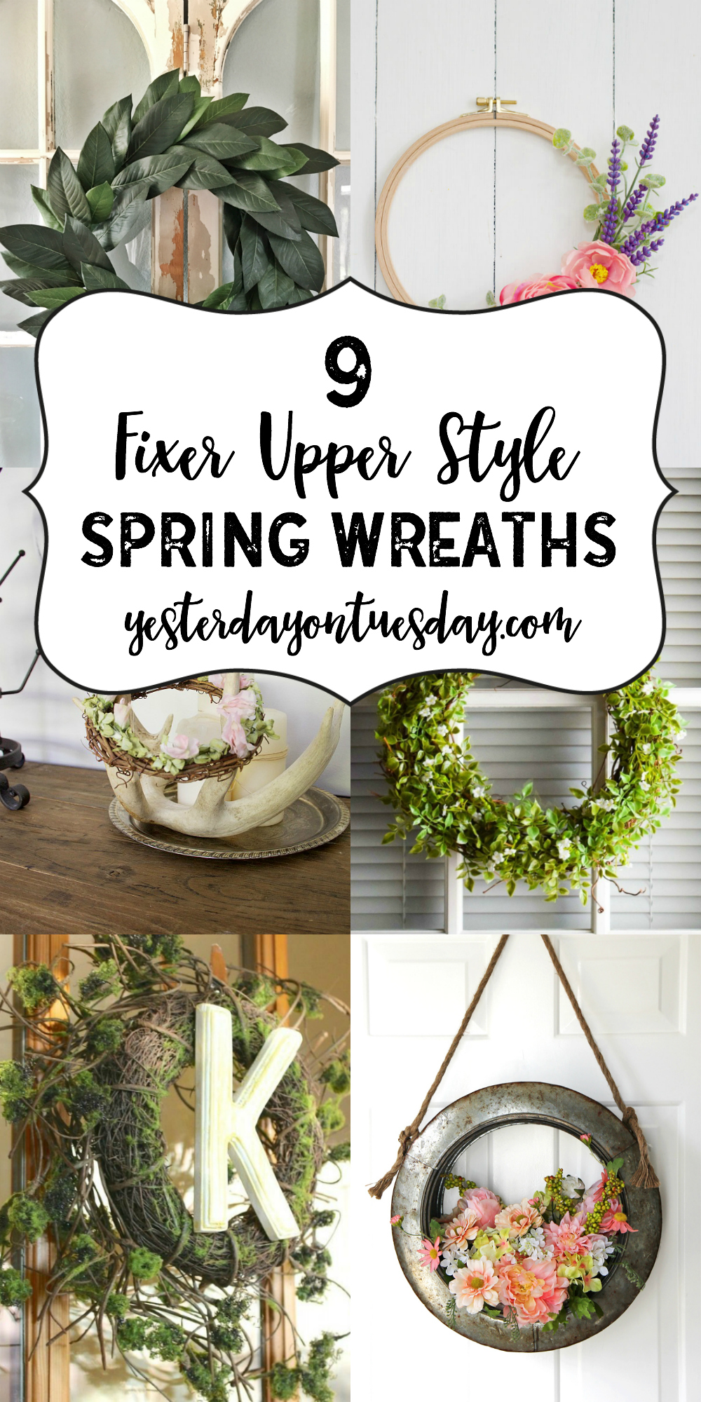 9 fixer upper style spring wreaths yesterday on tuesday. Black Bedroom Furniture Sets. Home Design Ideas