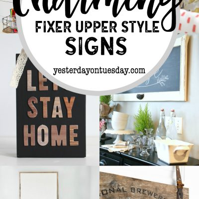A Dozen DIY Fixer Upper Signs