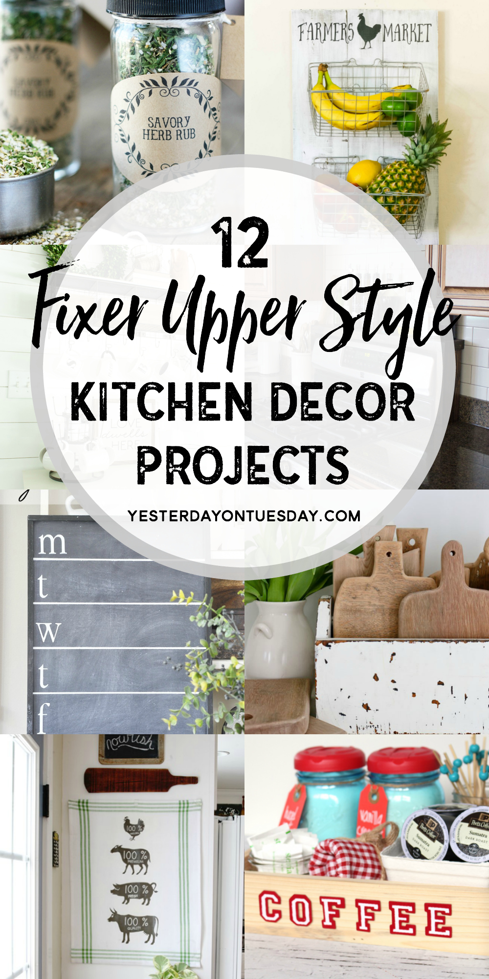 A Dozen Fixer Upper Style Kitchen Decor Projects