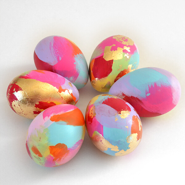 Abstract Gold Leaf Easter Eggs from Dream a Little Bigger