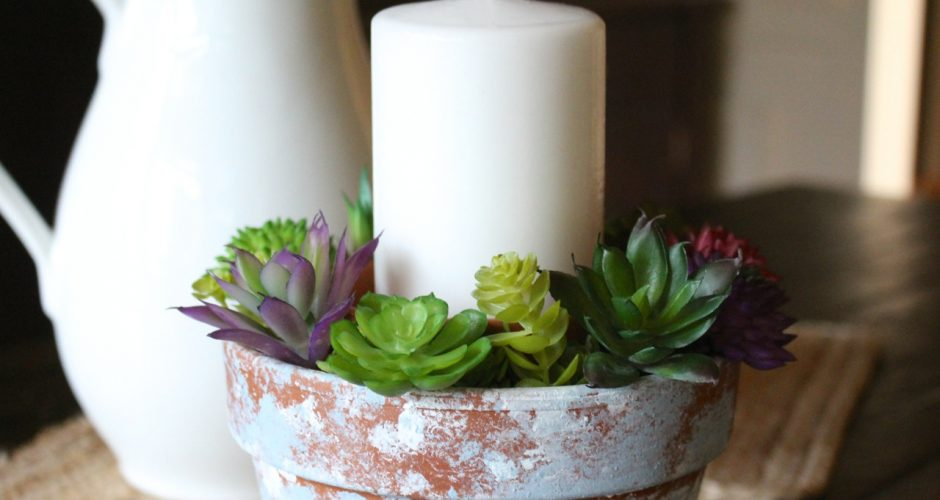 Fixer Upper Style Distressed Candle Holder