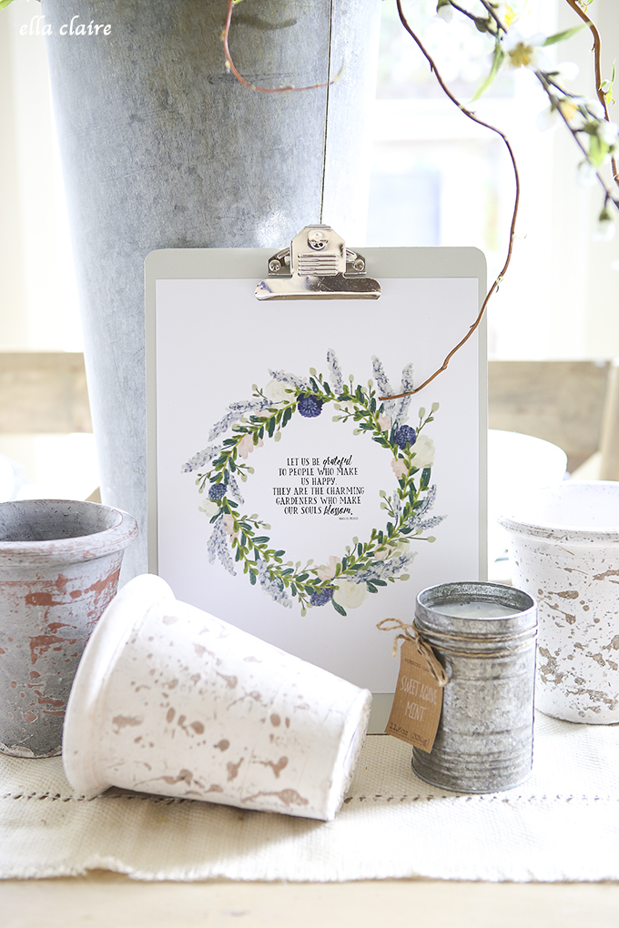 Charming Gardeners Spring Printable by Ella Claire Inspired