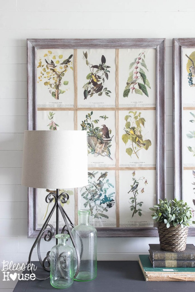 DIY Book Page Botanical Art from Blesser House