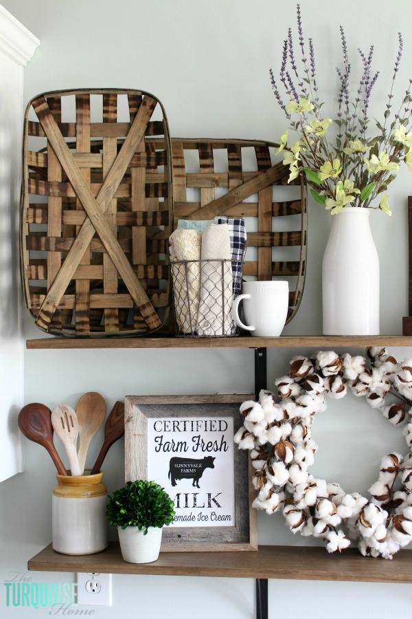 DIY Farmhouse Shelves from The Turquoise Home