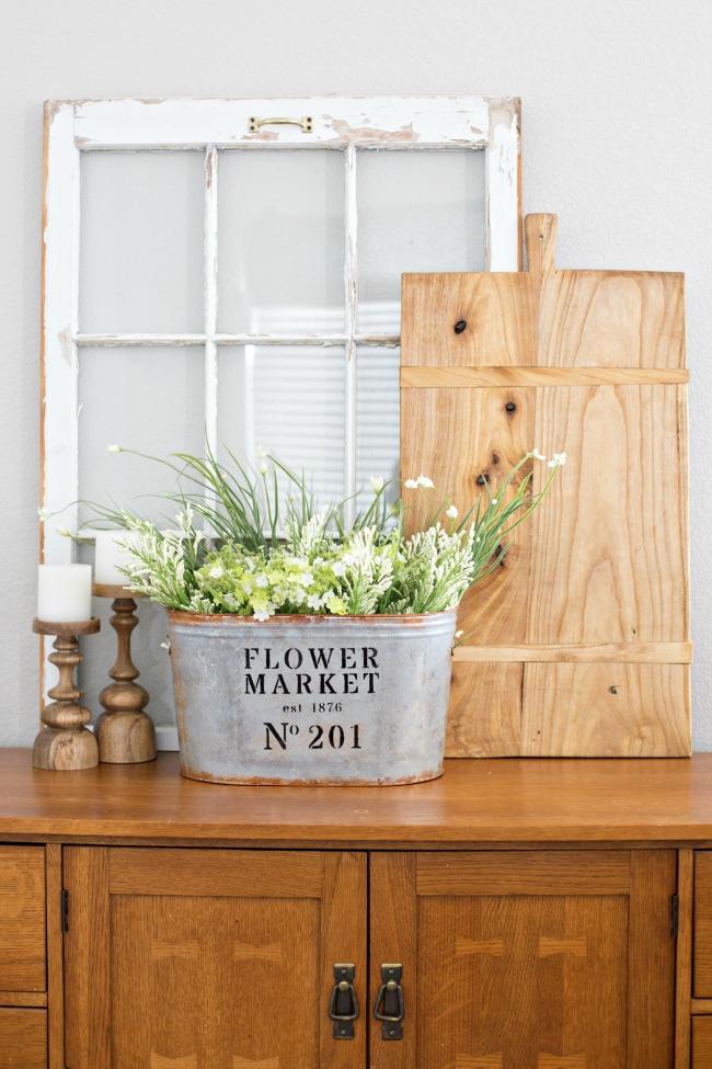 DIY Flower Market Bucket from A Night Owl Blog