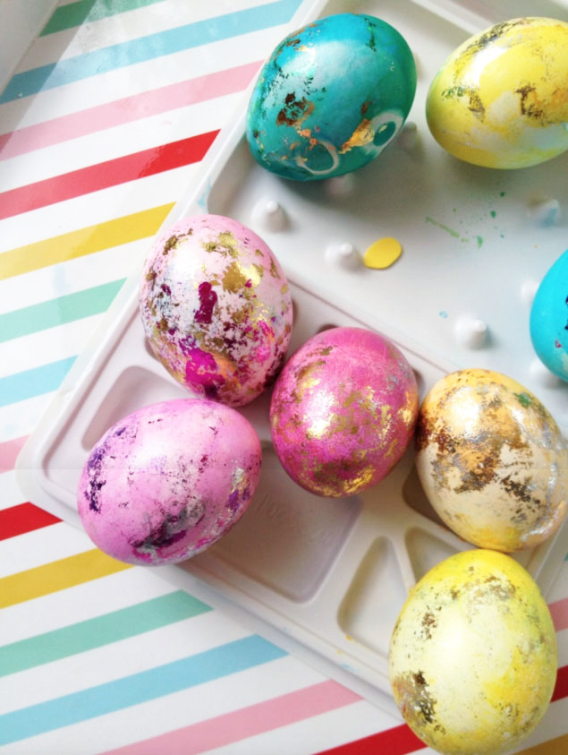 Gilded Easter Eggs from Pencil Shavings Studio