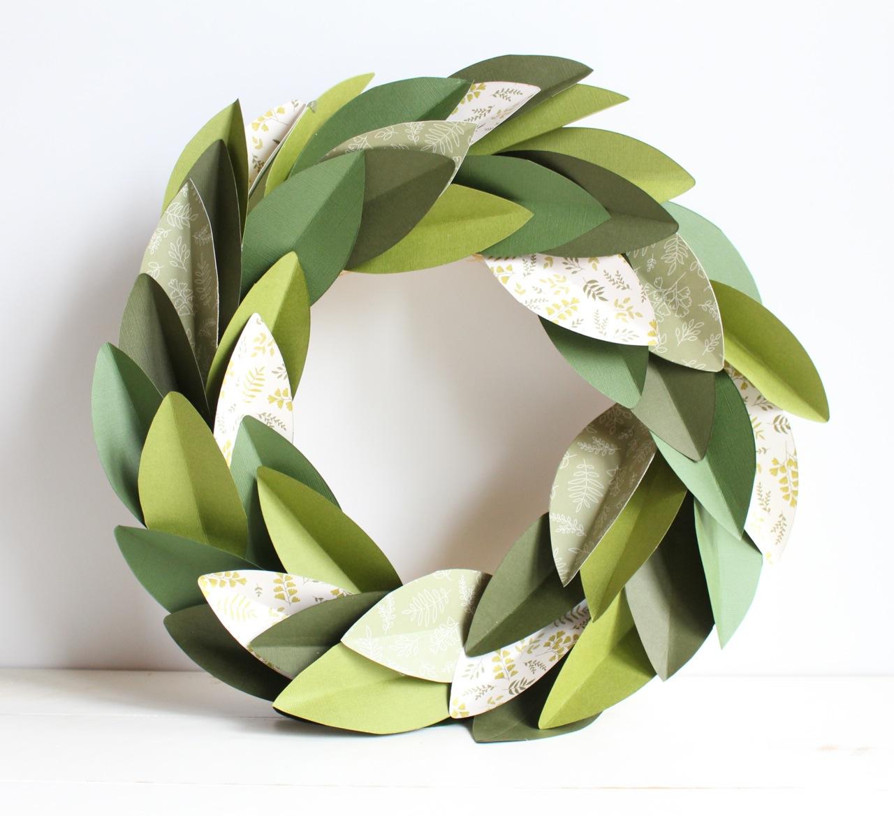 Paper Magnolia Wreath
