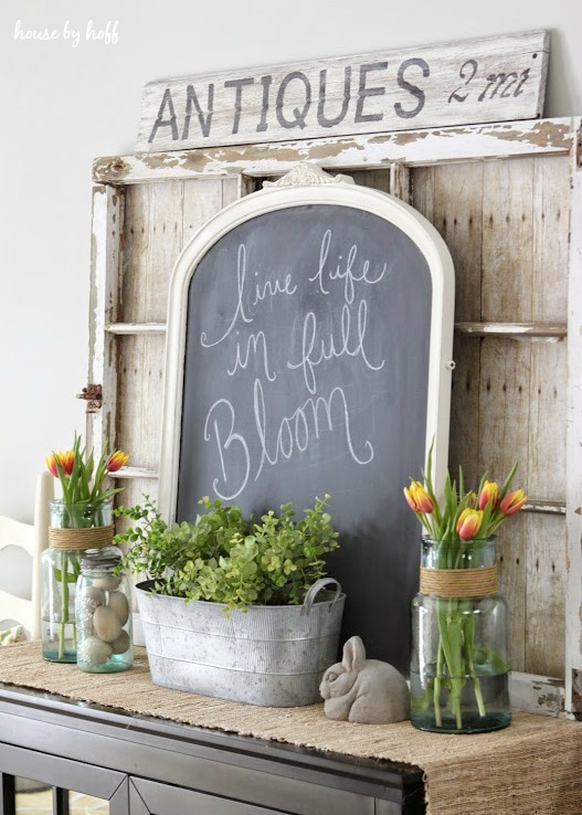 Spring Dining Room Decorating from House by Hoff