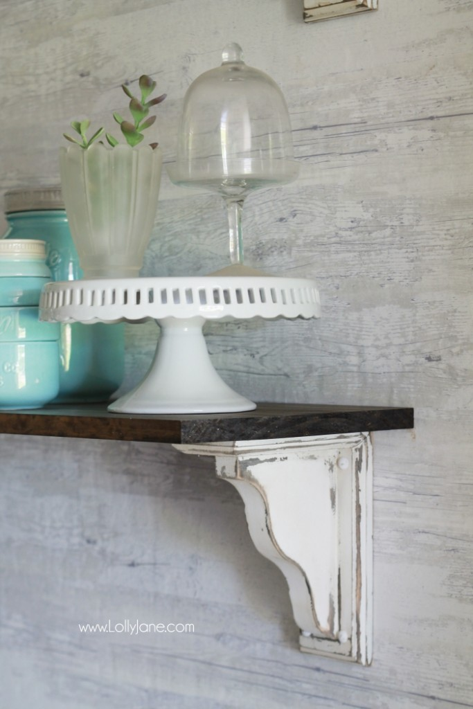 DIY Farmhouse Shelves by Lolly Jane