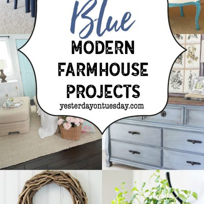 A Dozen Blue Modern Farmhouse Projects