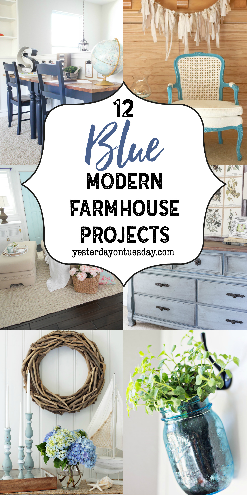 A Dozen Blue Fixer Upper Style Projects