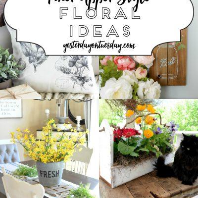 A Dozen Fixer Upper Style Floral Ideas