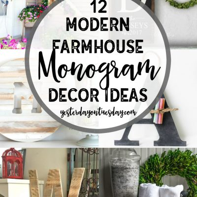 12 Modern Farmhouse Monogram Decor Ideas