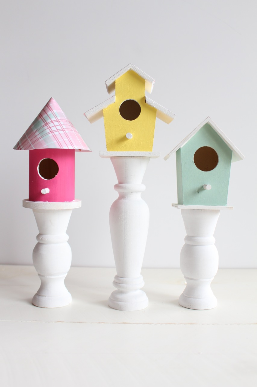 DIY Bird House Candlesticks