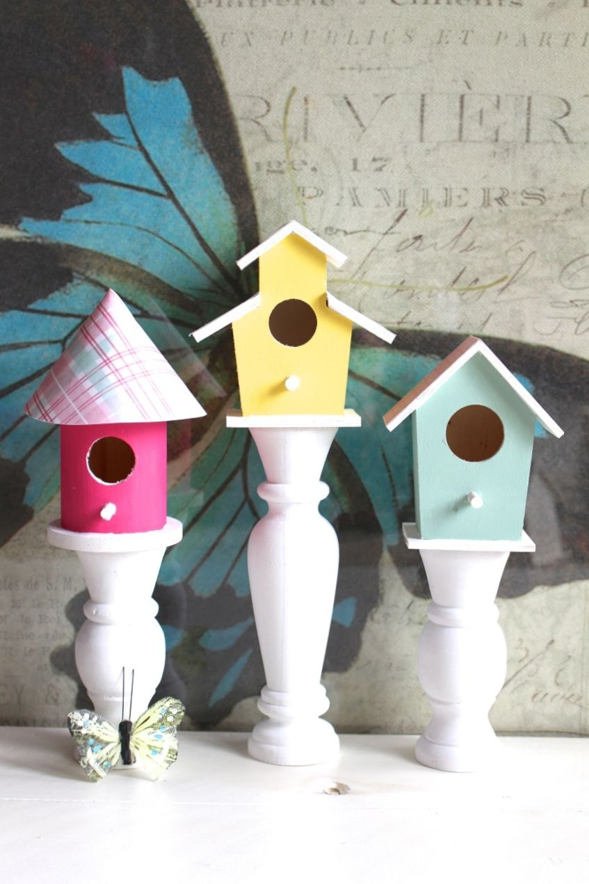 Birdhouse Candlesticks