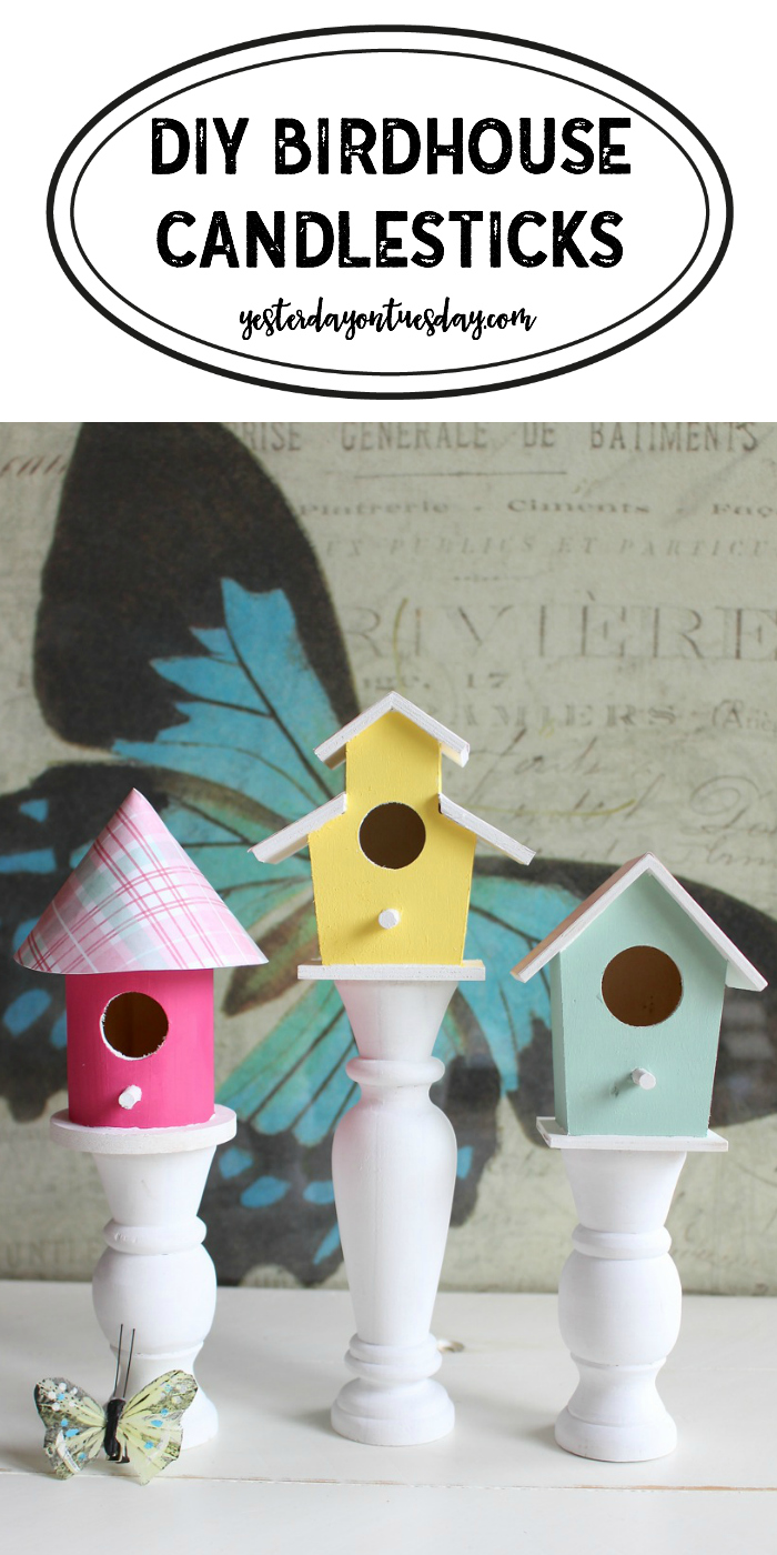 Birdhouse Candlesticks