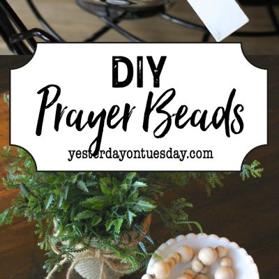 DIY Prayer Beads: How to make your own modern farmhouse style prayer beads. An easy and beautiful fixer upper style decorating detail.