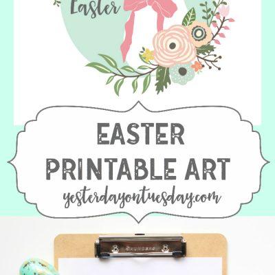 Happy Easter Printable Art
