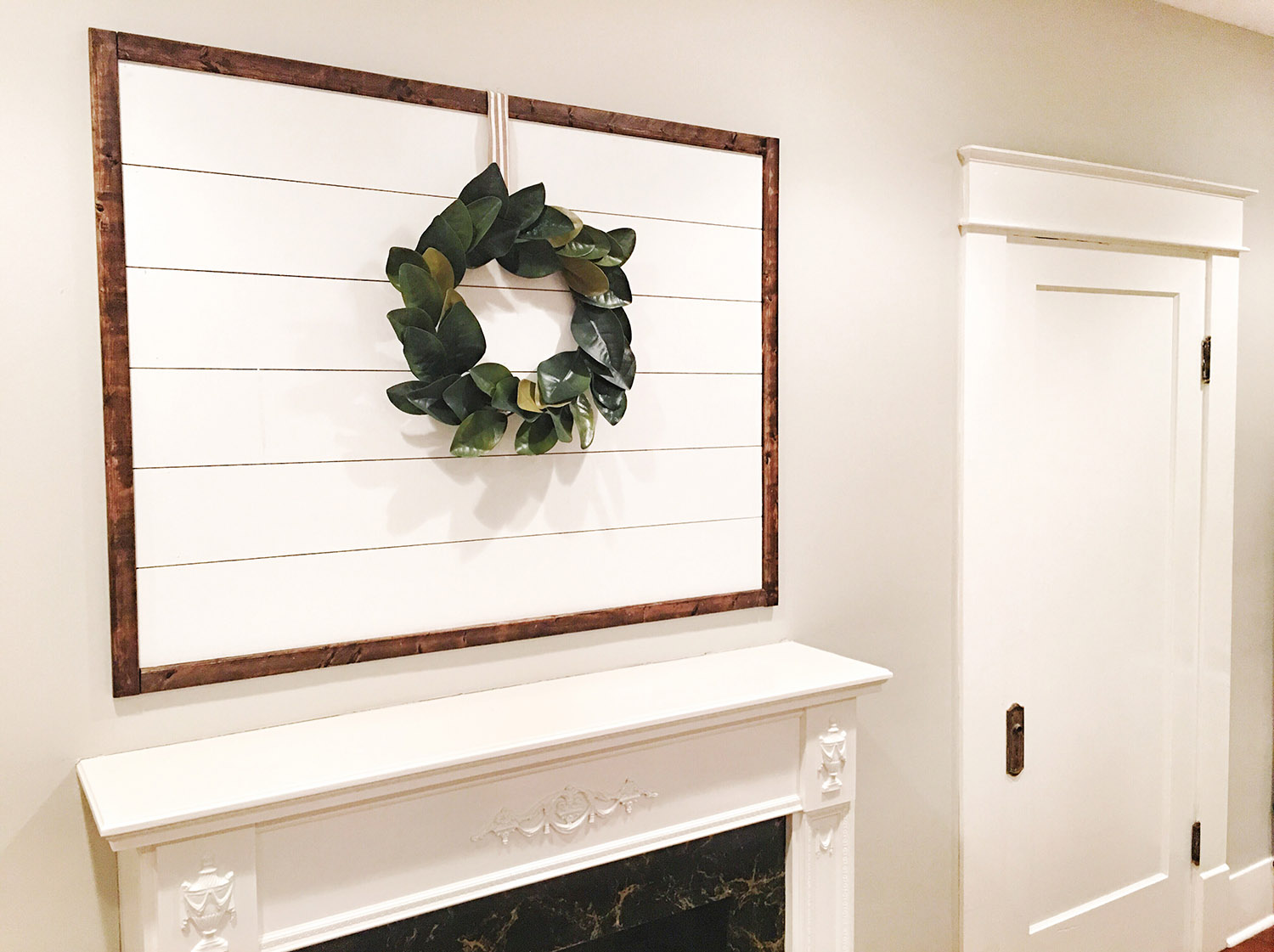 DIY Framed Shiplap