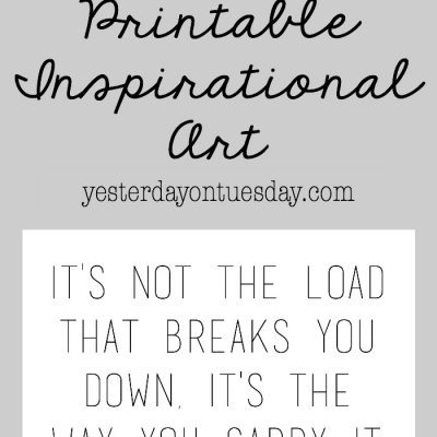 It's Not the Load Printable Art