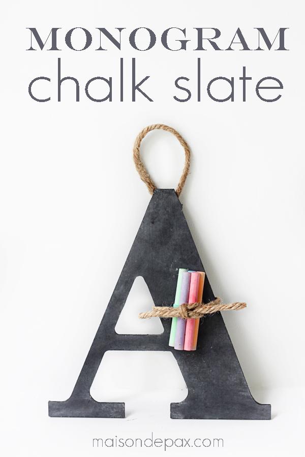 DIY Chalk Slate