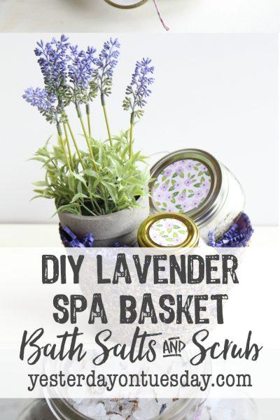 DIY Lavender Spa Basket