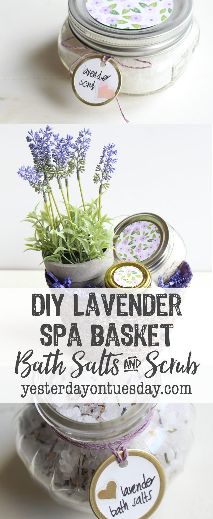 Lavender Spa Basket