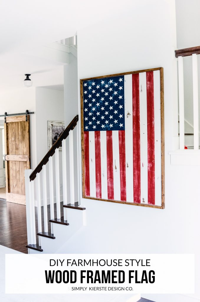 Wood Framed Flag