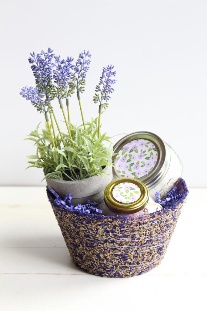 DIY Lavender Gift Basket