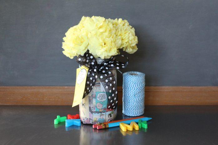 Comics Mason Jar Vase