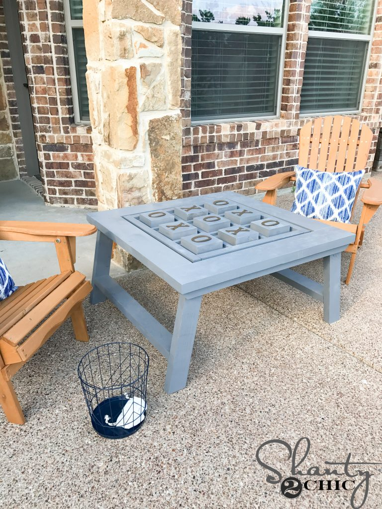 DIY Outdoor Game Table