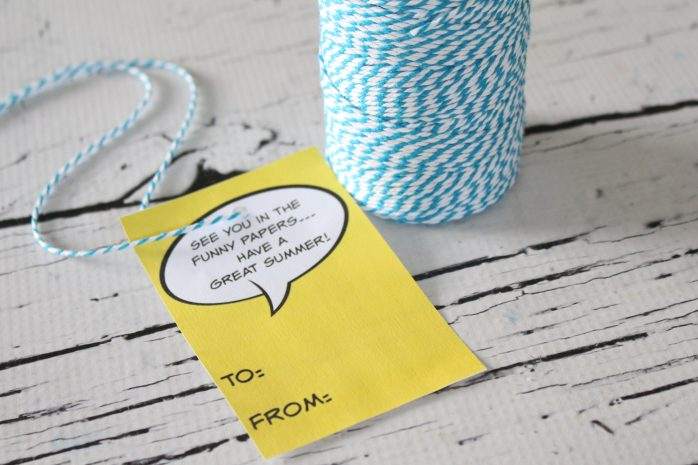 Comics Mason Jar Vase Teacher Gift with Printable Tags