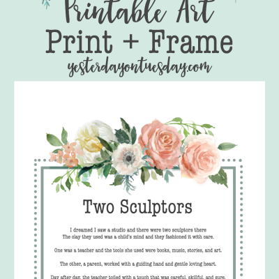 Two Sculptors Printable Art