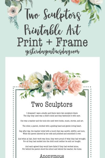 Two Sculptors Printable Art