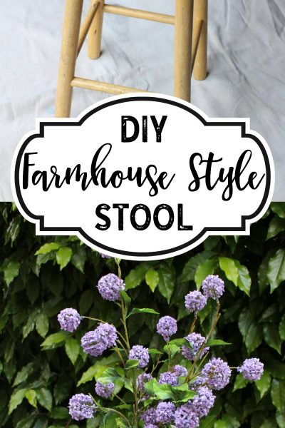 DIY Farmhouse Stool