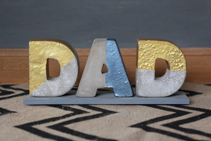 Dad Concrete Letters