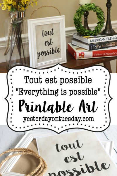 Tout est Possible French Printable Art