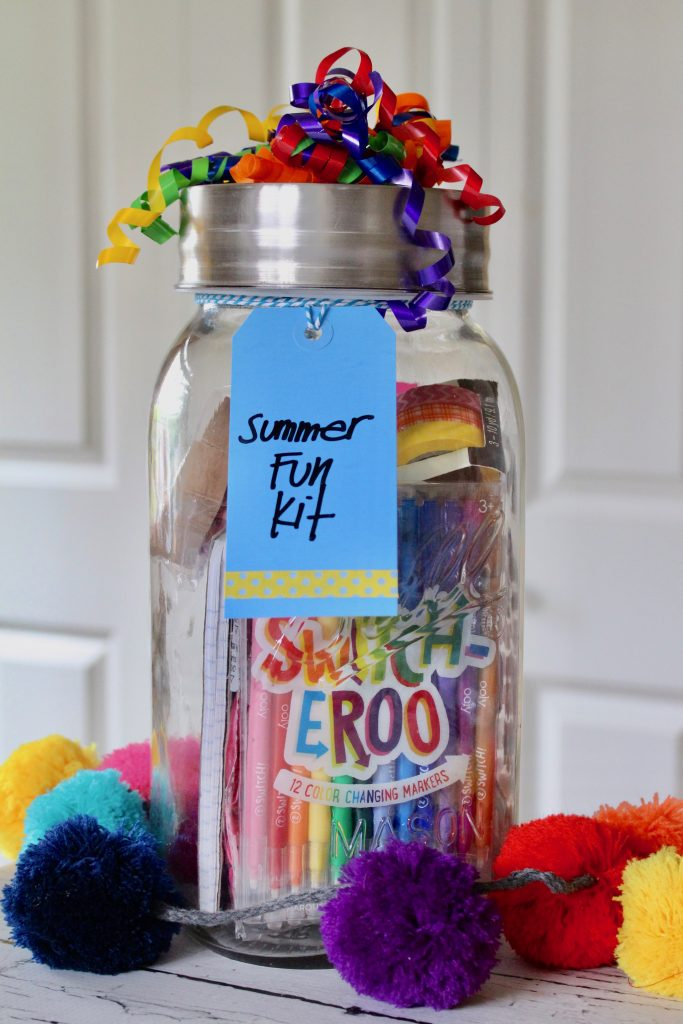 Summer Fun Kit in a Mason Jar