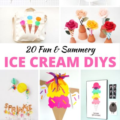 20 Fun & Summery Ice Cream DIYS