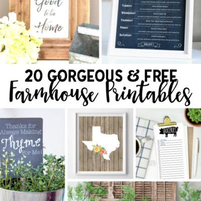 20 Gorgeous and Free Farmhouse Printables