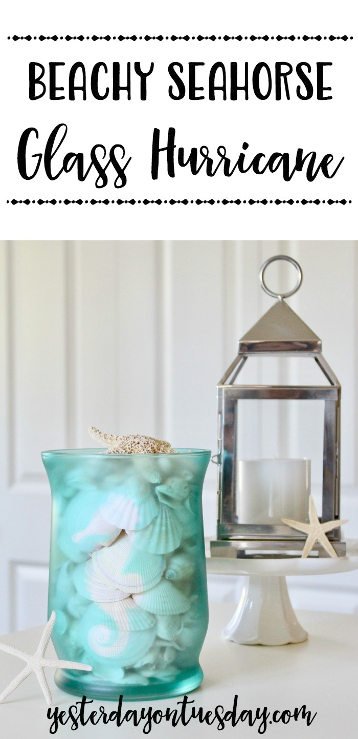 DIY Beachy Glass Hurricane