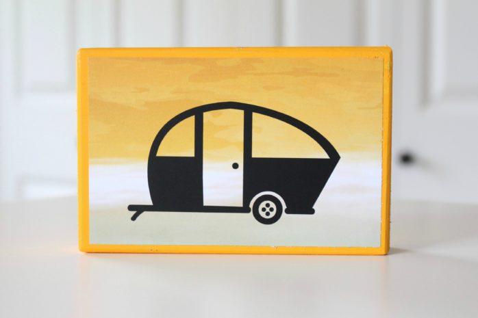DIY Camper Wooden Block Art