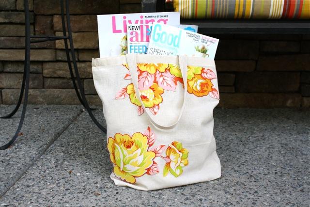DIY Floral Tote Bag
