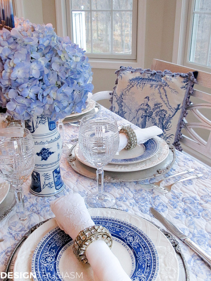 Lovely French Inspired Table Setting from Design Enthusiasm