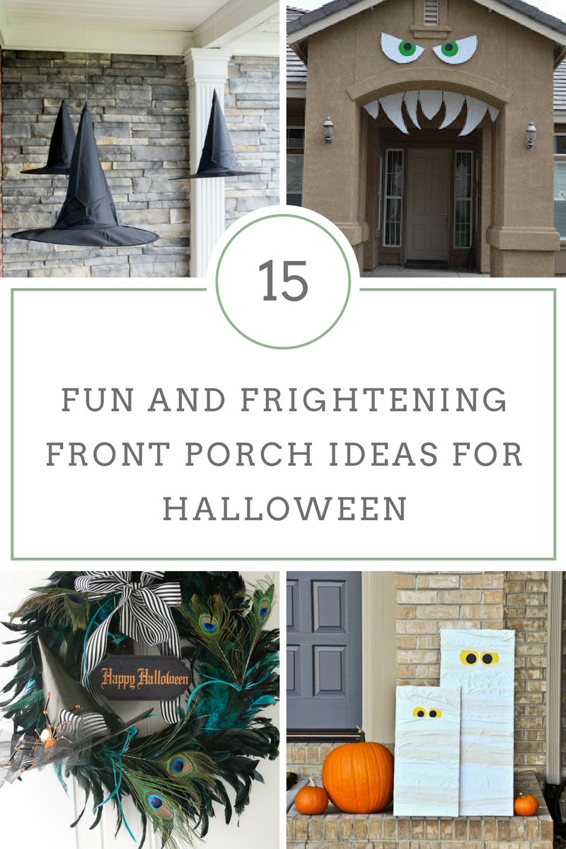 15 fun and frightening front porch ideas for halloween