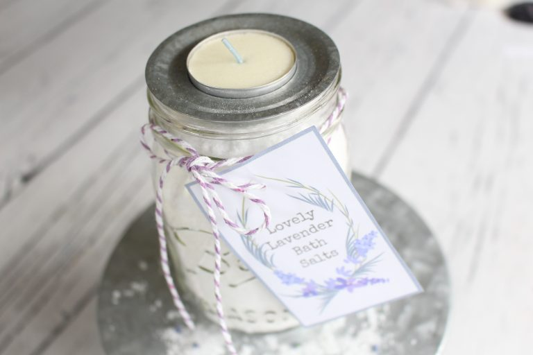 Lovely Lavender Bath Salts from Yesterday on Tuesday