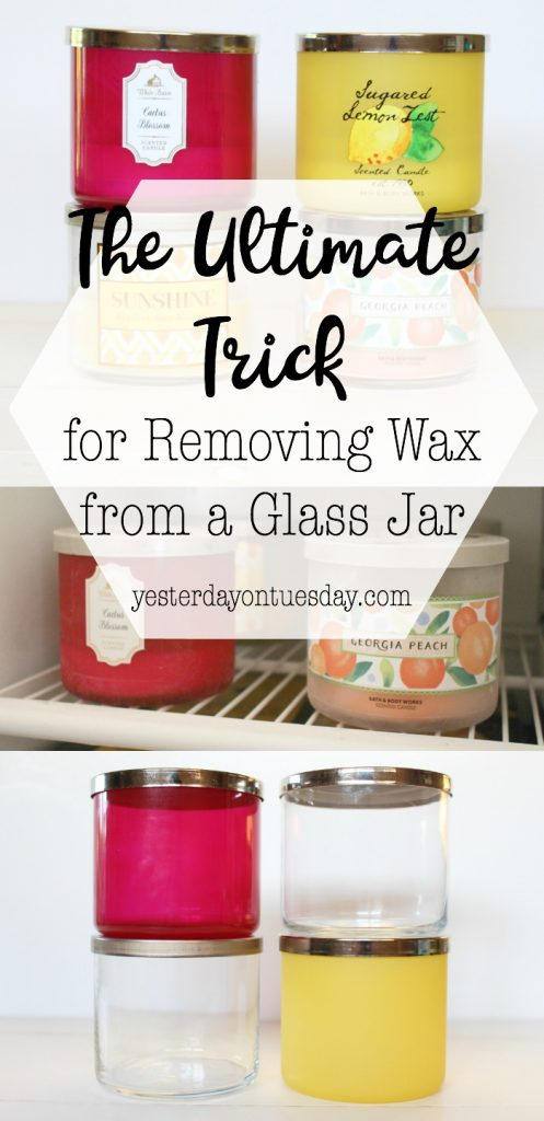 The Simplest Way to Remove Wax from a Candle Jar