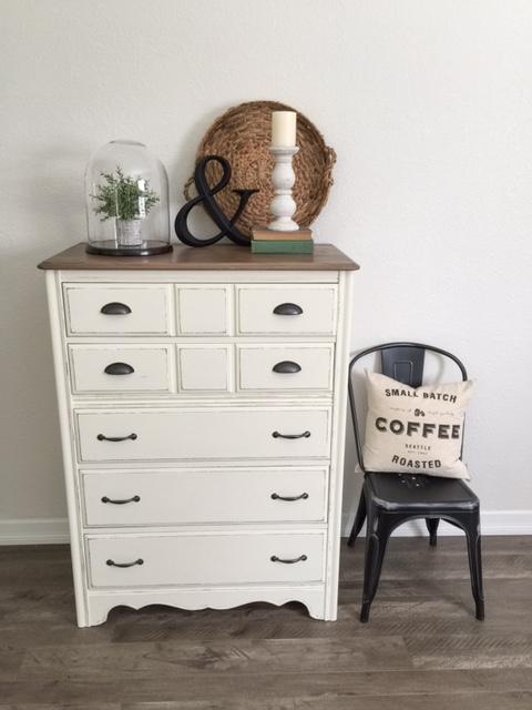Pretty White French Provinicial Dresser from Farm Fresh Homestead